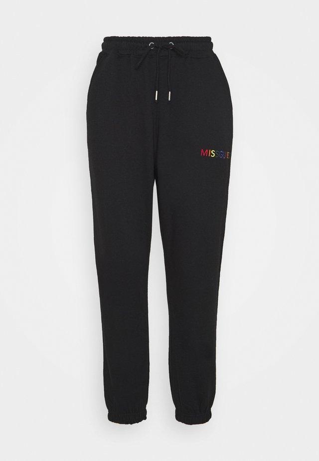 PRIDE JOGGERS - Spodnie treningowe - black