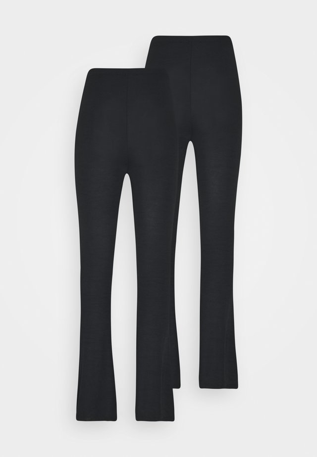 FLARE TROUSERS 2 PACK - Trousers - black