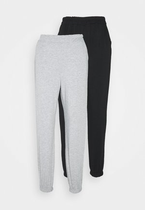 2 PACK BASIC JOGGERS - Joggebukse - grey marl/black