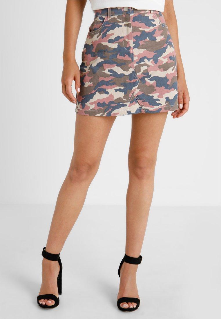 Missguided Petite - CAMO SKIRT - A-line skirt - multi