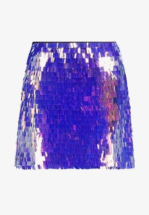 SEQUIN SKIRT - Minijupe - purple