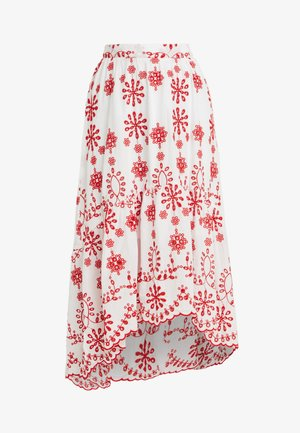 BRODERIE ANGLAIS HIGH LOW SKIRT - Maxi sukně - white