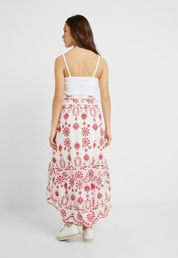 Missguided Petite - BRODERIE ANGLAIS HIGH LOW SKIRT - Maxi skirt - white - 2