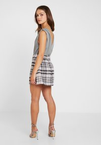 Missguided Petite - BRUSHED CHECK SKIRT - A-linjekjol - purple - 3