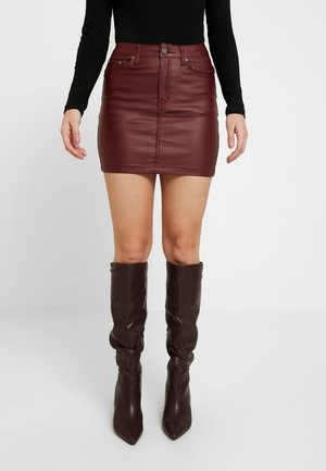 MINI SKIRT - Minirock - burgandy