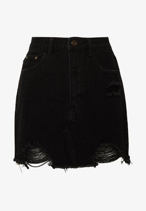RIPPED - Minijupe - black