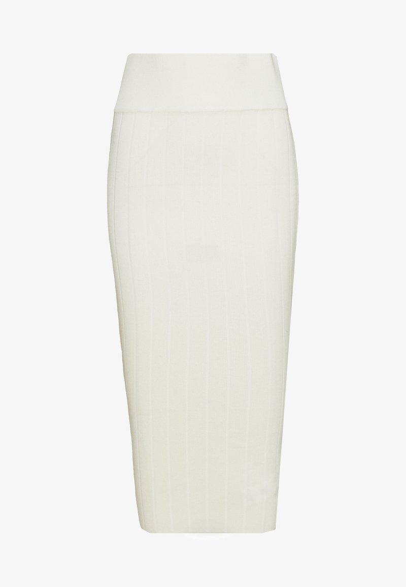 Missguided Petite - MIDAXI SKIRT - Blyantskjørt - white
