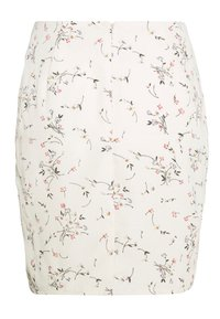 Missguided Petite - DITSY FLORAL RUCHED MINI SKIRT - Mini skirt - cream - 1