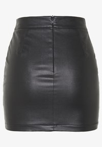 Missguided Petite - RAVE AND MISSBEHAVE FAUX FLAME SKIRT - Mini skirt - black - 1