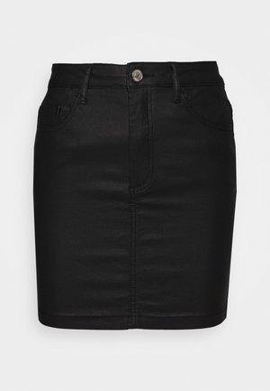 COATED MINI SKIRT - Minisukně - black
