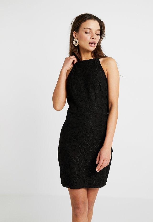 SQUARE NECK STRAPPY CAMI MINI - Sukienka koktajlowa - black