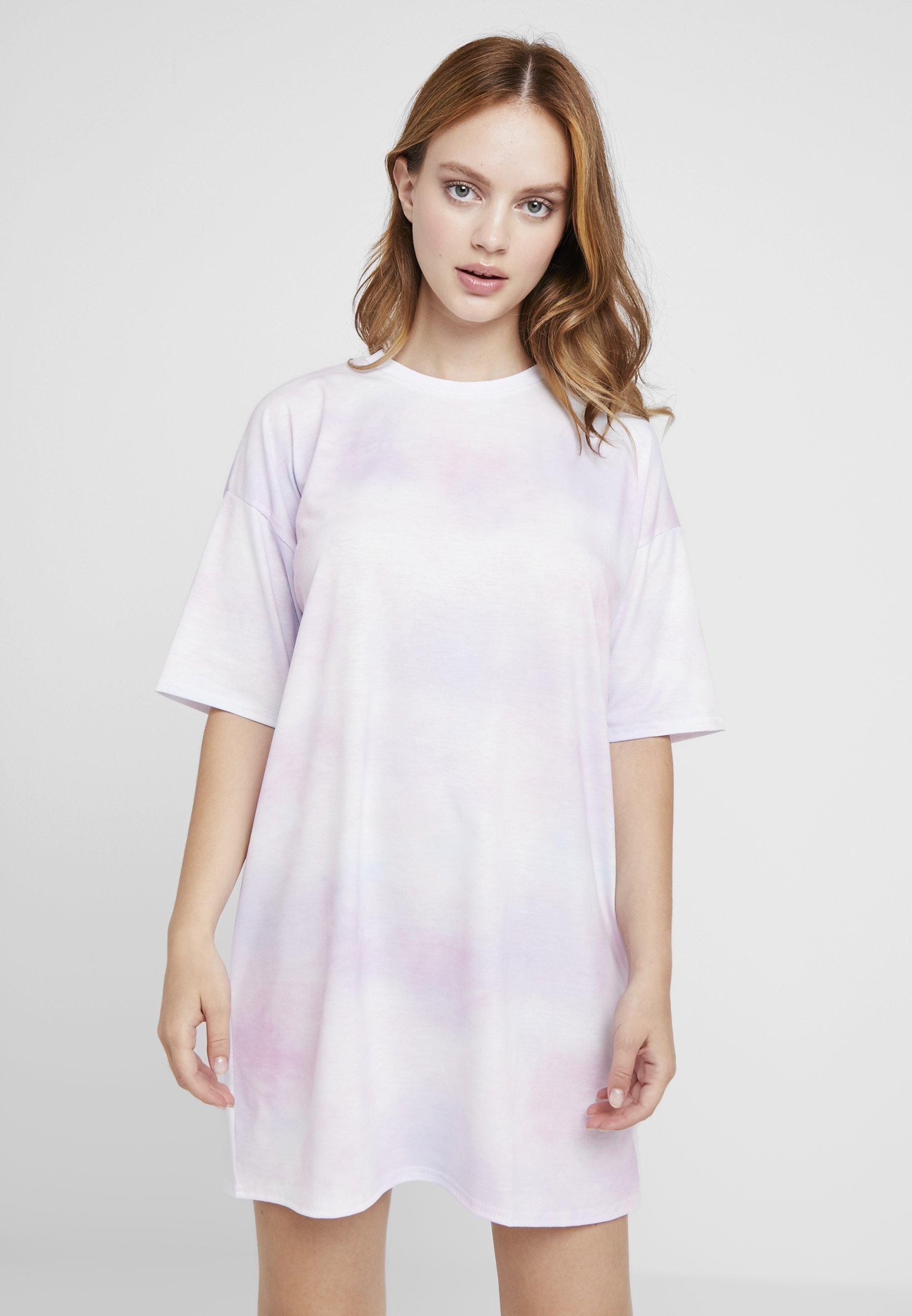 Jersey Lilac Petite DressRobe En Missguided Dye Tie 8ONwnkZ0PX