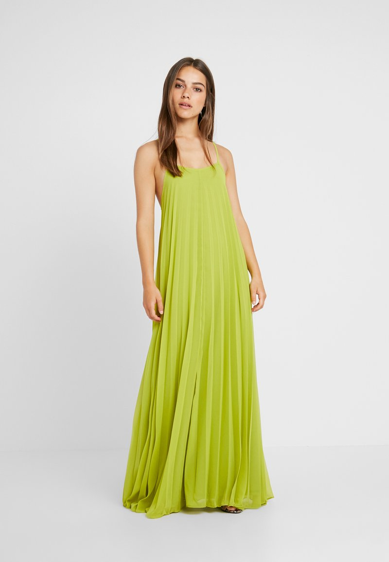 Missguided Petite - STRAPPY PLEATED DRESS - Maxi šaty - acid lime