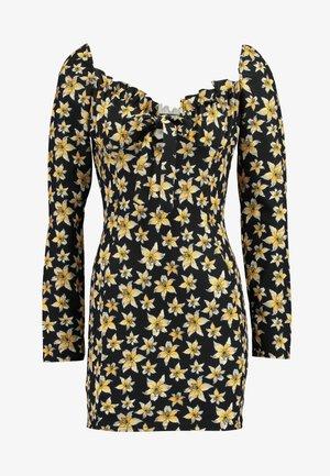 MILKMAID TIE FRONT MINI DRESS - Robe en jersey - navy