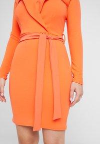 Missguided Petite - BARDOT FOLDOVER BODYCON MINI DRESS - Sukienka z dżerseju - nectarine - 5