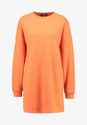 OVERSIZED SWEATER DRESS - Denní šaty - orange