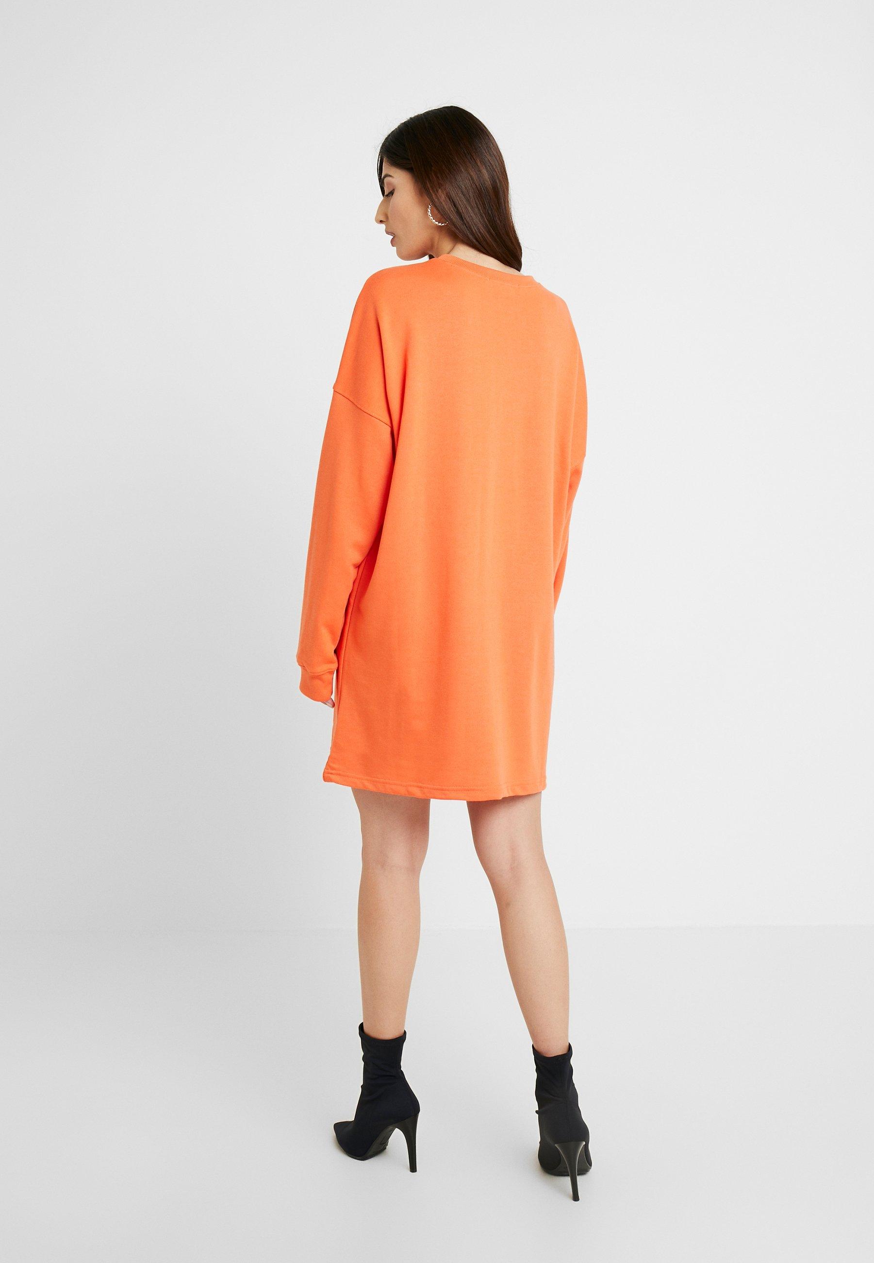 Petite D'été DressRobe Orange Oversized Sweater Missguided USGzVqpM