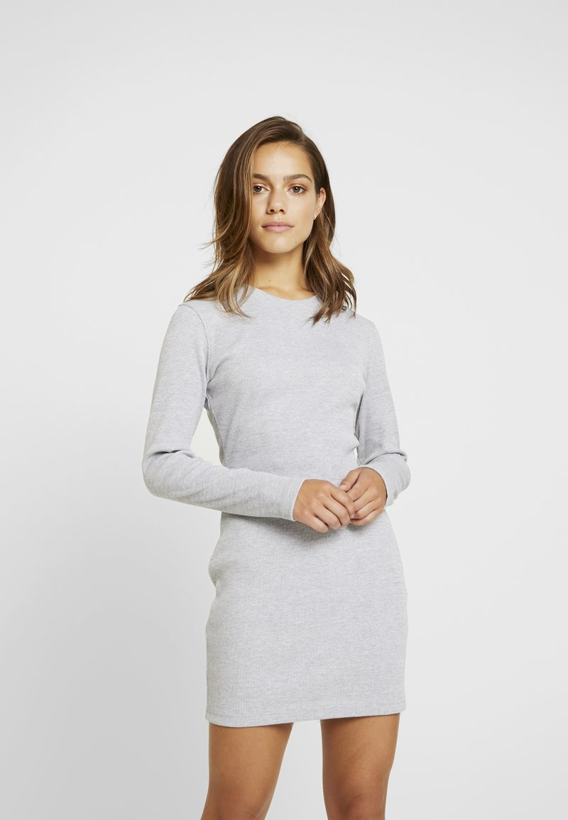 Missguided Petite - HIGH NECK DRESS 2 PACK - Jerseyjurk - grey/black