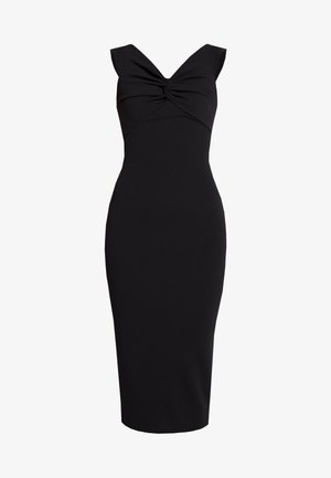BARDOT TWIST DETAIL MIDI DRESS - Tubino - black