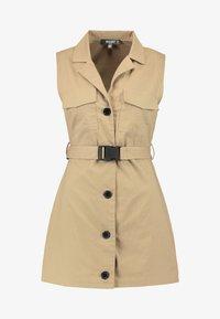 Missguided Petite - DRESS SELF BELTED - Vestido camisero - nude/tan - 4