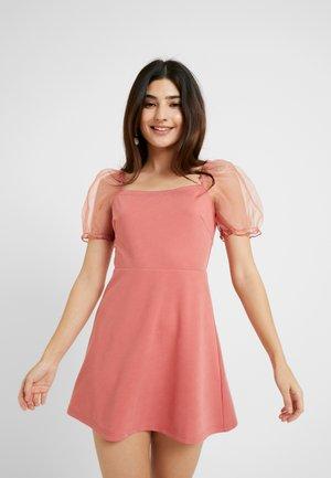 PUFF SLEEVE SKATER DRESS - Robe de soirée - blush