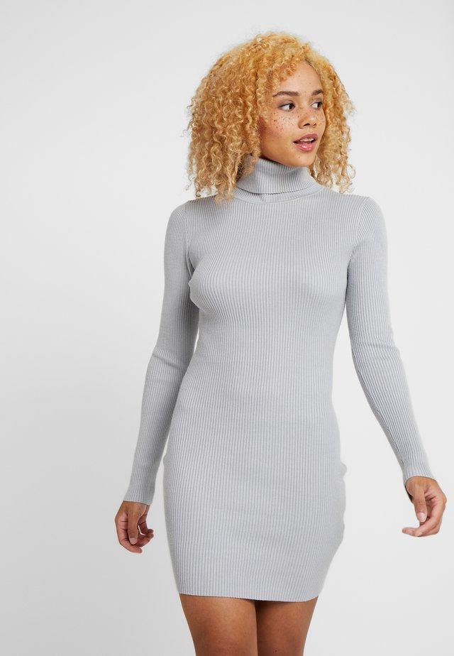ROLL NECK MINI DRESS - Etui-jurk - grey