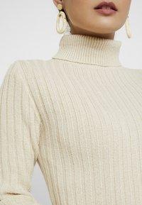 Missguided Petite - ROLL NECK JUMPER DRESS - Gebreide jurk - stone - 5
