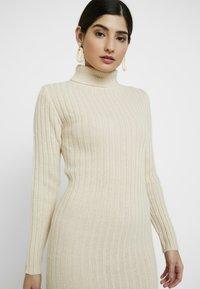 Missguided Petite - ROLL NECK JUMPER DRESS - Gebreide jurk - stone - 3