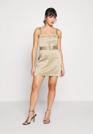 UTILITY SELF BELT MINI DRESS - Robe d'été - khaki