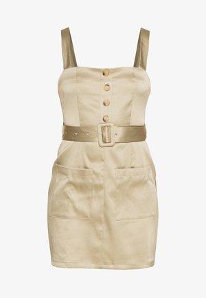 UTILITY SELF BELT MINI DRESS - Day dress - khaki