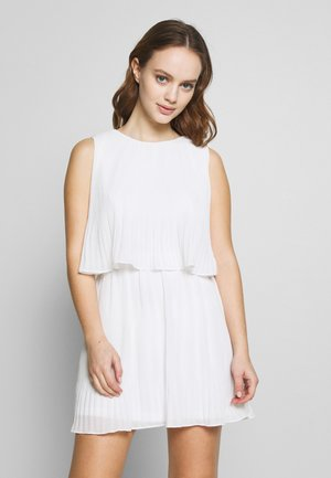 PLEATED SLEEVELESS SMOCK DRESS - Vestido informal - white