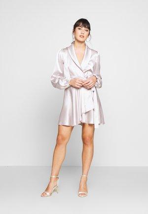 WRAP MINI DRESS - Korte jurk - lilac