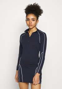 Missguided Petite - REFLECTIVE PIPING BODYCON MINI DRESS CODE CREATE - Vestido de tubo - navy - 0