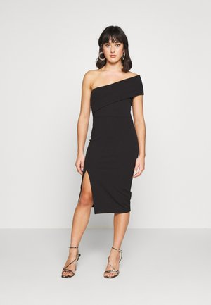 ONE SHOULDER MIDI DRESS - Tubino - black