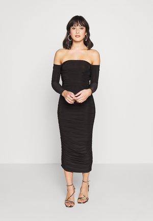 BARDOT SLINKY RUCHED MIDAXI DRESS - Vestido de cóctel - black