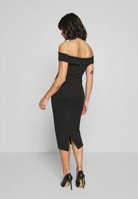 Missguided Petite - V FRONT BARDOT MIDI DRESS - Shift dress - black - 2