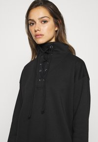Missguided Petite - LACE UP MINI DRESS - Vestido informal - black - 4