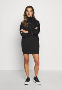 Missguided Petite - LACE UP MINI DRESS - Vestido informal - black - 1
