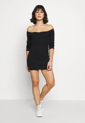 2 PACK LETTUCE HEM MINI DRESS - Robe d'été - camel/black