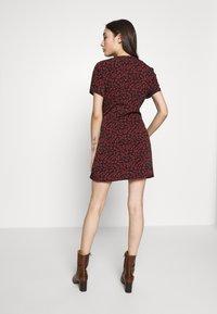 Missguided Petite - BUTTON FRONT MINI DRESS - Kjole - black - 3