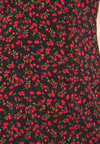Missguided Petite - BUTTON FRONT MINI DRESS - Kjole - black - 5