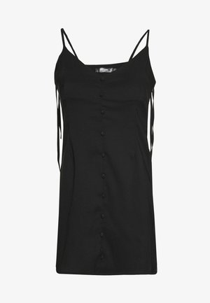 BUTTON THRU TIE STRAP CAMI DRESS - Denní šaty - black