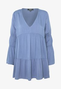Missguided Petite - V NECK TIERED MINI DRESS - Robe d'été - blue - 4