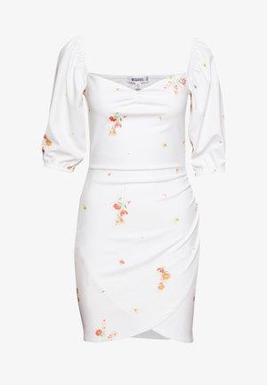 DITSY FLORAL MILKMAID MINI DRESS - Žerzejové šaty - white