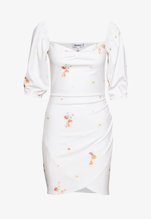 DITSY FLORAL MILKMAID MINI DRESS - Jersey dress - white