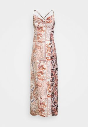 PAISLEY NECK CAMI DRESS - Maxikjole - rust