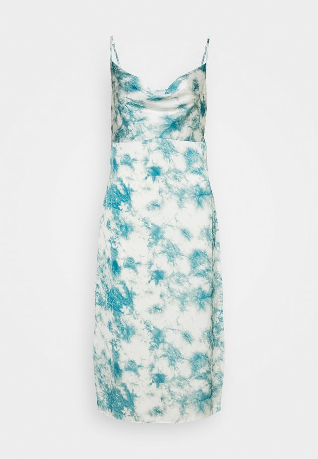 CAMI COWL SLIP MIDI DRESS TIE DYE - Vestido informal - blue