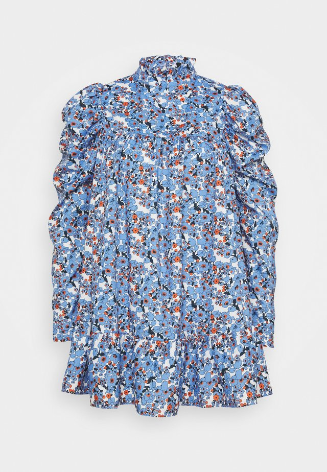 PETITETIERED PUFF SLEEVE DRESS DITSY FLORAL - Shirt dress - blue