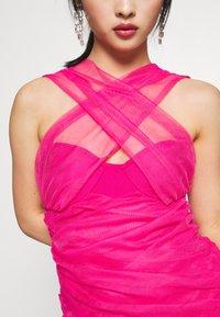 Missguided Petite - BANDAGE HALTER MINI DRESS - Sukienka koktajlowa - pink - 5