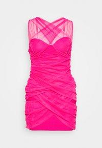 Missguided Petite - BANDAGE HALTER MINI DRESS - Sukienka koktajlowa - pink - 4